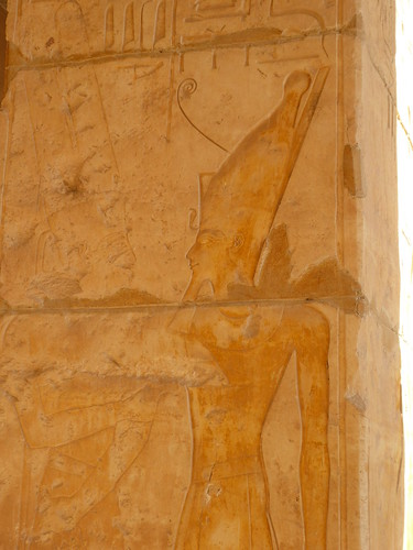 Amun embraces Hatshepsut, Deir el Bahri