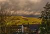 _DSC0062 - Threatening skies above Hawes (SWJuk) Tags: swjuk uk unitedkingdom gb britain england yorkshire yorkshiredales dales wensleydale northyorkshire hawes hills hillside countryside trees clouds darkclouds fields greysky rainclouds 2017 nov2017 autumn autumnal autumncolours nikon d7100 nikond7100 18300mm rawnef lightroomclassiccc