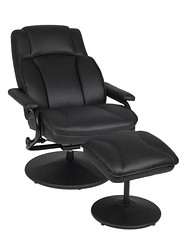 N1701BK_4 (RegencyOfficeFurniture) Tags: regency regencyofficefurniture regencyseating seating chair recliner reclining lounge swivel armchair vinyl ottoman footrest rotating lightweight impresa n1701 black blackchair