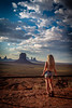 Staring at the beauty (dannygreyton) Tags: monumentvalley usa utah desert woman girl hair longhair landscape nature nationalpark fujifilmxt2 fujinon1024mm fujifilm mountains portrait wildwest