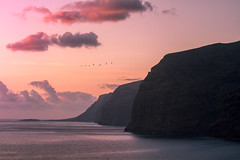 Los Gigantes, Teneriffa (Andreas Balg) Tags: ocean teneriffa water gigantes sun wasser ozean himmel meer landschaft berg bucht abhang mountain birds landscape atmosphere red