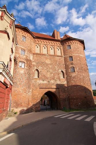 Wysoka Brama (1466-78) w Lidzbarku Warmińskim od strony przedmieścia
