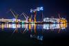 Shipyard (Jyrki Salmi) Tags: jyrki salmi finland night reflections meyer turku