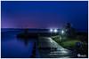 Harbour Dangast (Onascht) Tags: lighthouse photoart art dslr dangast amateurphotographer lampen südfriesland jadebusen hafen blue nordseemeer night outdoor northhsea wilhelmshaven photography harbour nikon photoshop digitalart lamps lightroom d610