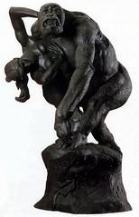 Gorilla with Woman 1887 by French sculptor Emmanuel Fremiet , Allerton Park, Monticello, IL (RLWisegarver) Tags: piatt county history monticello illinois usa il