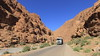 Hit the Road Mohammed (Eye of Brice Retailleau) Tags: angle beauty composition landscape nature outdoor panorama paysage perspective scenery scenic view extérieur vanishing point ciel blue sky sunny backpacking travel wide earth mountain mountains road route truck maroc morocco todra atlas