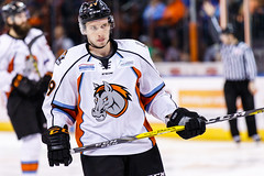 """Kansas City Mavericks vs. Kalamazoo Wings, January 5, 2018, Silverstein Eye Centers Arena, Independence, Missouri.  Photo: © John Howe / Howe Creative Photography, all rights reserved 2018. • <a style=""""font-size:0.8em;"""" href=""""http://www.flickr.com/photos/134016632@N02/25707979758/"""" target=""""_blank"""">View on Flickr</a>"""