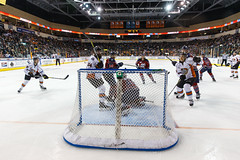 """Kansas City Mavericks vs. Kalamazoo Wings, January 5, 2018, Silverstein Eye Centers Arena, Independence, Missouri.  Photo: © John Howe / Howe Creative Photography, all rights reserved 2018. • <a style=""""font-size:0.8em;"""" href=""""http://www.flickr.com/photos/134016632@N02/25707994118/"""" target=""""_blank"""">View on Flickr</a>"""