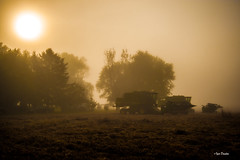 Harvest Sun. (Igor Danilov Philadelphia) Tags: harvest combine harvester fogg morning after done sun field nj colambus nikon d700 igordanilov igor philadelphia flickr grass tree sky mist house sunrise sunday sleep dream 2470mm usa america beautiful country side road nikond700 nikkor24‑70mmf28g google