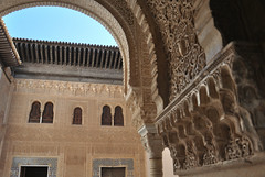 Alhambra (Gwen Fran) Tags: grenade granada espagne espana spain andalousie andalucia alhambra maure mauresque moorish calligraphie calligraphy frise mur wall sculpture mosaïque mosaic architecture islam muslim musulman palais palace nasride