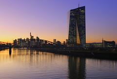 EZB (EOS1DsIII) Tags: eos1dsiii deutschland germany frankfurt ezb ecb architecture bridge skyline evening