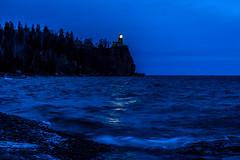Beacon of Hope (FJMaiers) Tags: splitrocklighthouse minnesota lakesuperior beacon lighthouse northshore statepark park birch ice waves edmundfitzgerald 1975 memorial pines blue evening night shore