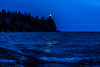 Beacon of Hope (FJMaiers) Tags: splitrocklighthouse minnesota lakesuperior beacon lighthouse northshore statepark park birch ice waves edmundfitzgerald 1975 memorial pines blue evening night shore