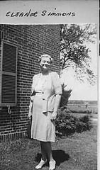 Eleanor Gibson Simmons - Lyric Theater Mgr - Monticello, IL c1945 (RLWisegarver) Tags: piatt county history monticello illinois usa il