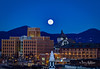 Howling Cold Super Wolf Moon Roanoke (Terry Aldhizer) Tags: new year day january first super moon cold wolf blue ridge mountains read roanoke city valley sky evening twilight night terry aldhizer wwwterryaldhizercom virginia howling