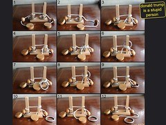 The mini-rope bridge puzzle (solution) (qyiq23607pisano) Tags: tanglement puzzle tricky hard string loop ball robertrboomhower robertboomhower boomhower topology ropebridge miniropebridge complexity witsendpuzzle witsend solved solution challenge slot ring cord bead disk wood brainteaser brain teaser iq grueling mysterykey tbar geduldspiele cassetêtes cassetetes hlavolamy puslerier puzzel rompecabezas topologicalpuzzle