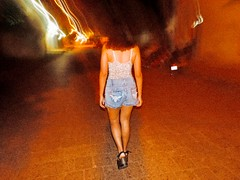 90's latino style (isabelcazuriagaf) Tags: 90s latin latino mai ángeles friend fam friends amiga latinamerica concepcion paraguay paraguayan highheels blurred difuminado picture beautiful love redtones red walkby street granulated filter filtro