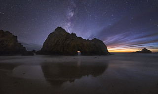 Astronomical Twilight At Pfeiffer Arch - Single Exposure