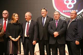 El president de la Generalitat, Ximo Puig, participa en el acto de celebración del 30 aniversario de Bodegas Bocopa. (13/12/17)