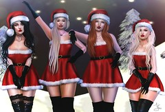 Jingle Bell Rock. (Lauryn Sage Greyson) Tags: santa hazy hat second life secondlife mean girls christmas holiday photography card
