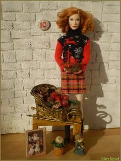 10.advent day - advent calendar with dolls 2017