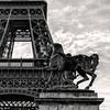 THE HORSE ..... (jibété61) Tags: tower eiffel paris black white blanc noir cheval horse statue