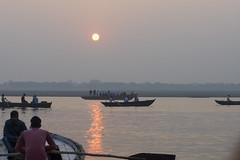 Sunrise boat ride (Tim Brown's Pictures) Tags: india varanasi benares ganges river gangesriver religion hindu hinduism pilgrims travel color people boats uttarpradesh