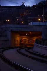 Budapest 2017 (Like a Swan) Tags: train trainrails statue canon600d canont3i light hungary budapest night art tag city graffiti metro