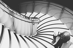 the up way (Anna Grimsey) Tags: blackandwhite street stairs britishmuseum