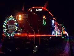 CP Holiday Train (Kim's Pics :)) Tags: cpholidaytrain lights decorations evening festive railway tracks holiday event fundraising traincars canadianpacificrailway entertainment fun music winnipeg manitoba