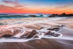 Onshore Break (Darren White Photography) Tags: oregon yachats oregoncoast darrenwhite sunrise longexposure beaches oregonbeaches sigmalens
