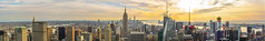 New York City Panoramic (fher-x-s) Tags: nyc topoftherock newyork nuevayork panorámica rascacielos panoramic skyscraper city ciudad edificios nikon naranja paisaje atardecer landscape dawn rio river d5200 nikond5200 35mm nikon18108vr rockefellercenter sol sun