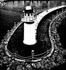 Deniz Feneri - Light House (smurfwaterfall) Tags: cdokme deniz sea konya park su water huzur siyahbeyaz blackandwhite ecdad ecdadparkı denizfeneri lighthouse fener ışık isik