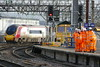 Man PIc Orange army Fz1000 test (Nigel Valentine) Tags: orange network rail manchester piccadilly virgin freightliner engineering