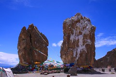 Two Rocks (YY) Tags: 納木措 湖 西藏 那曲 namtso lake saltwater tibet nagqu lakenam