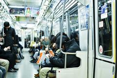 Life in a train (Pop_narute) Tags: tokyo japan japanese people life night train railway street public travel