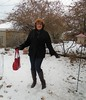 My Own Wintry Version Of Frolicking :) (Laurette Victoria) Tags: snow winter wisconsin boots leggings purse auburn coat gloves woman laurette
