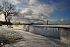 Frozen Artwork (DTD_9776) (masinka) Tags: ice path sidewalk walkway frozen freezing icy cold winter etbtsy lake erie eriebasin marina lighthouse buffalo ny newyork fence clouds morning light cityscape urban photography photo chill wonderland art artwork nature