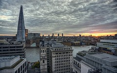 Gray sunset over London