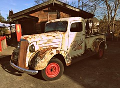 1930's Chevrolet truck (Dave* Seven One) Tags: 1930s chevrolet gm gmc truck pickuptruck pickup rusty rust rot broken display bigsexy mikestracksidebbq
