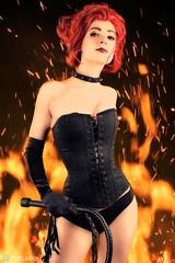"""Corrupted by Hellfire"" (PatLoika) Tags: cosplay costume cosplayphotography marvel comics marvelcomics xmen xmencosplay jeangrey phoenix hellfireclub blackqueen"