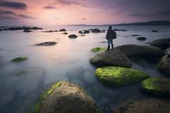 Autorretrato a Lanzada (jojesari) Tags: ar11718g 1117 autorretrato alanzada playadalanzada sanxenxo pontevedra galicia sunset atardecer puestadesol ocaso longexposure largaexposición jojesari suso explore