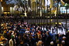 A very large crowd in Rockefeller Center, NYC to see the Christmas Tree (AndrewDallos) Tags: nyc new york city manhattan rockefeller center christmas tree