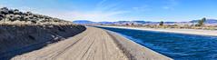 Pacific Crest Trail (joe Lach) Tags: californiaaquaductcanalstreamriver blue brown dirt flowingwater green joelach overpass sidewalk trail walkingpath water pacificcresttrail