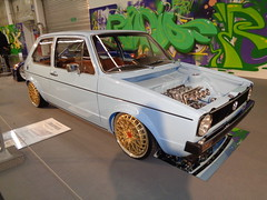 VW Golf 1 (911gt2rs) Tags: messe event show ems tuning tief low stance custom youngtimer gti mk1 i rabbit dub blau blue hellblau oettinger bbs felgen räder wheels rims