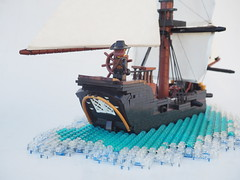 The Midnight's Mist (Robert4168/Garmadon) Tags: lego pirates brethrenofthebrickseas eslandola garvey ship vessel sails water minifigure cannon stern