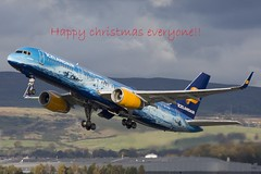 Happy christmas (rjonsen) Tags: merry christmas vatnahjøkull takeoff departure aviation
