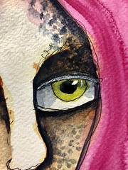 (greendot) Tags: danielsmith watercolor watercolors akvarell aquarell aquarelle watercolour watercolours painting janedavenportinspiresme ink afaceaday face