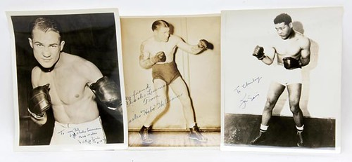 1940s Autographed Boxing Photos (Grand Total $2,284.00)