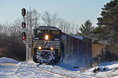 "NS 6813 ""Triclops"" (ERIE1960) Tags: railroad railfan trains locomotive norfolksouthern canadianpacific delawareandhudson freighttrain newyorkrailroads emd sd60 westportny diesellocomotive"